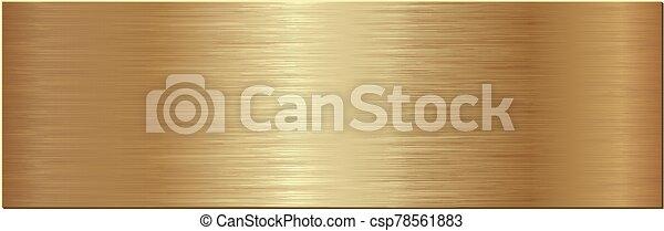 plaque, gouden - csp78561883