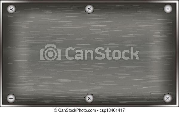 plaque, métal - csp13461417