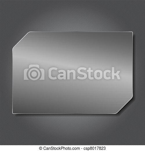 plaque, métal - csp8017823