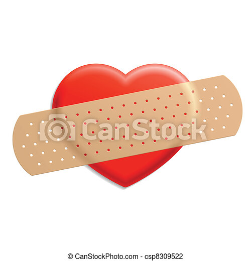 Plaster and heart - csp8309522