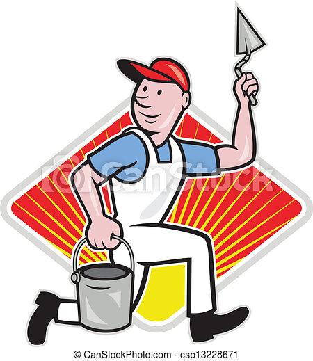 plaster masonry worker cartoon illustration of a plasterer rh canstockphoto com masonic clipart masonic clipart symbols to download