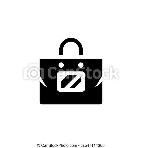 Plastic bag icon - csp47114365