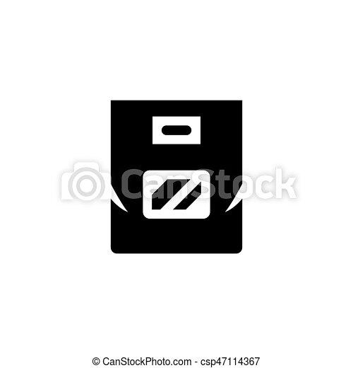 Plastic bag icon - csp47114367