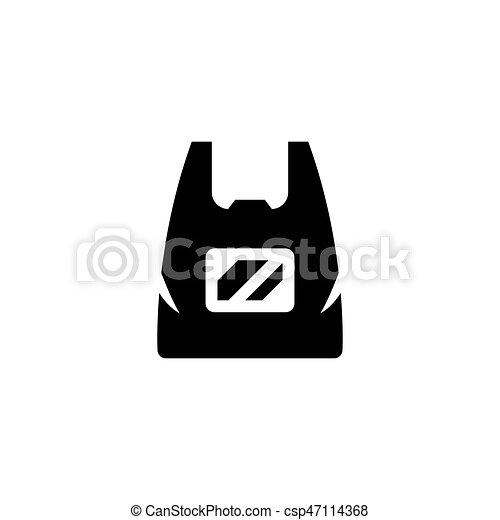 Plastic bag icon - csp47114368