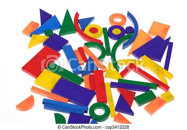 Plastic blocks geometrical figures - csp3412228