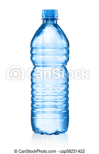 Plastic bottle with water - csp58231422