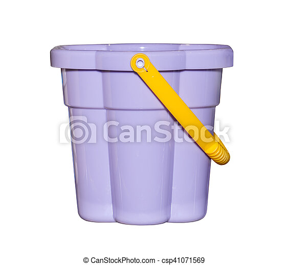 Plastic bucket kids toy - csp41071569