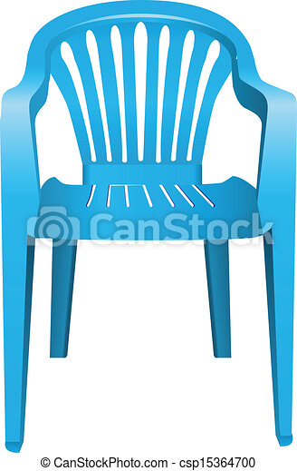 Plastic Chair The Chair Is Made Of Blue Plastic Vector