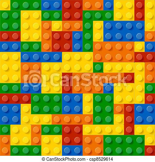 Plastic construction blocks - csp8529614