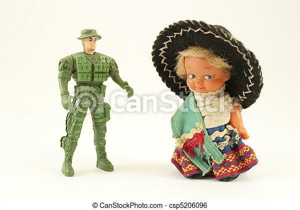 plastic dolls - csp5206096