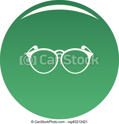 Plastic eyeglasses icon vector green - csp63212421