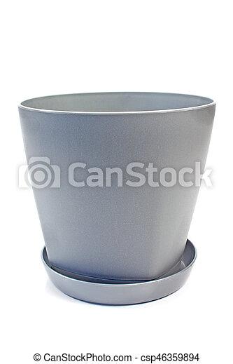 Plastic flower pot isolated on white background plastic flower pot isolated on white background csp46359894 mightylinksfo