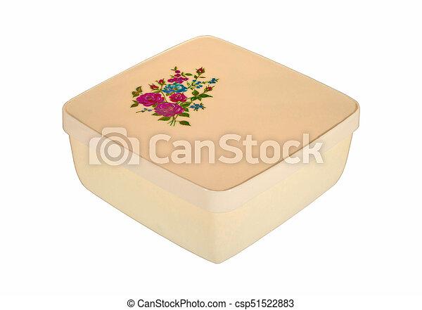 Plastic food box - csp51522883