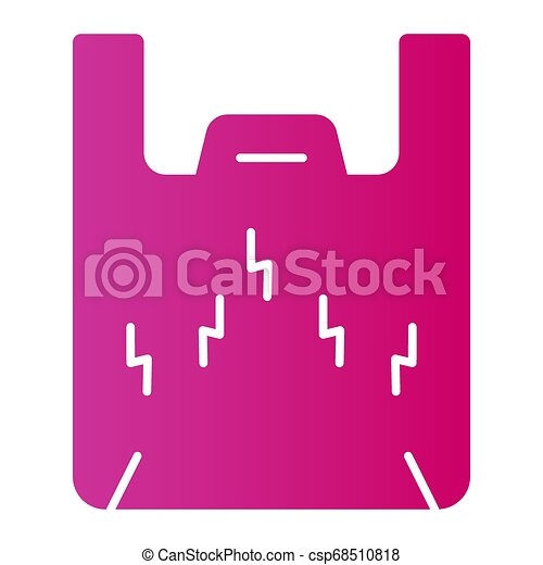Plastic packet flat icon. Plastic bag color icons in trendy flat style. Cellophane bag gradient style design, designed for web and app. Eps 10. - csp68510818