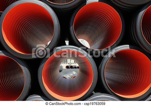 plastic pipe - csp19763059
