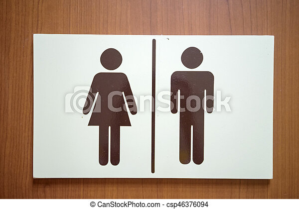 Plastic Plate With Male And Female Toilet Sign