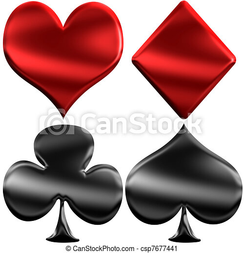Glossy Plastic Playing Cards Symbols