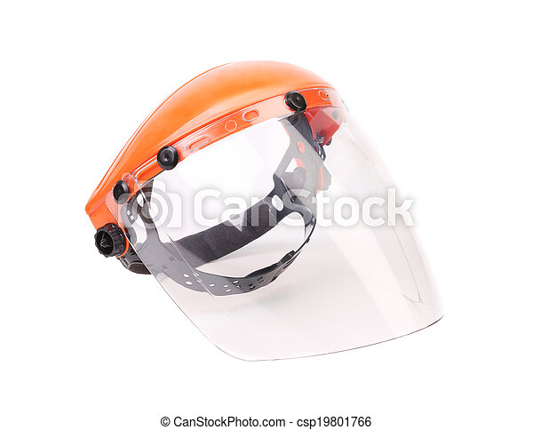 Plastic protective face shield. - csp19801766