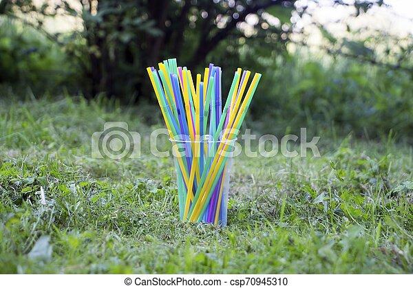 Plastic straws - csp70945310