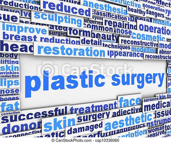 Plastic surgery message conceptual design - csp10336060