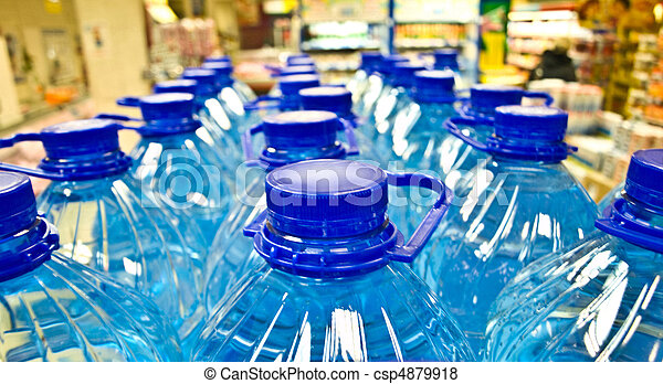 plastic water bottles - csp4879918