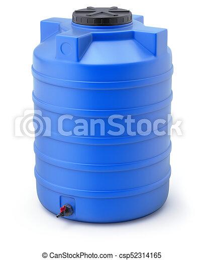 plastic water storage tank blue plastic water storage tank on white