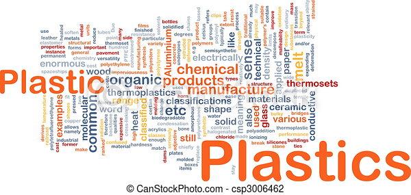 plastica, materiale, concetto, fondo - csp3006462