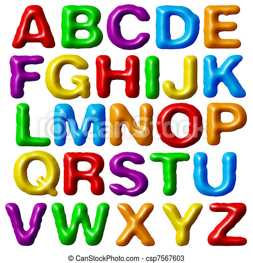 plasticine alphabet plasticine alphabet isolated on white background rh canstockphoto com alphabet clipart easter alphabet clipart images