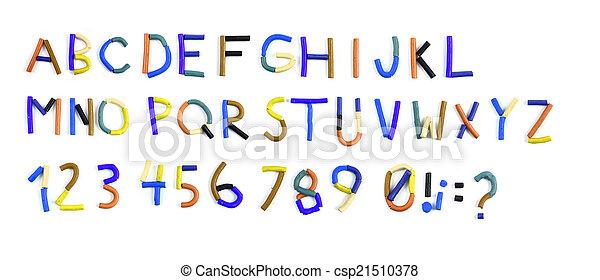 plasticine alphabet - csp21510378