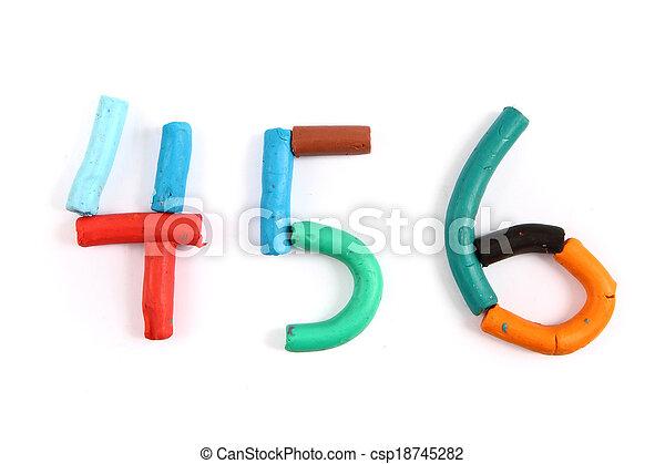 plasticine alphabet - csp18745282