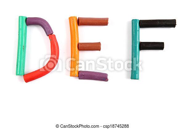 plasticine alphabet - csp18745288
