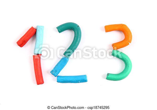 plasticine alphabet - csp18745295