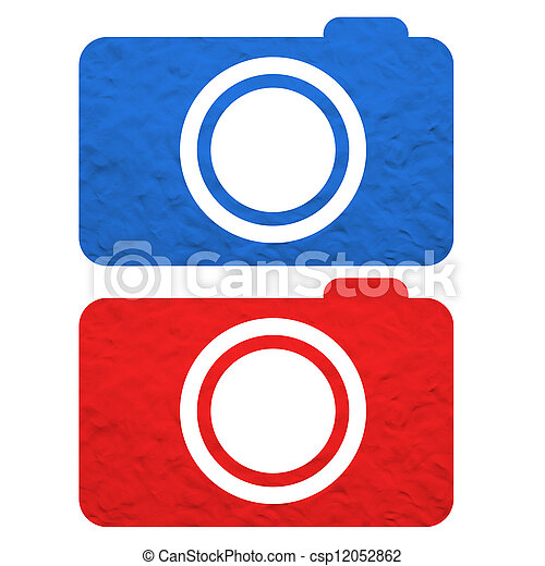 Plasticine camera on white background - csp12052862