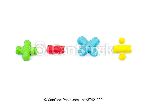 Plasticine Math Operator Symbol Plus Minus Multiplication And