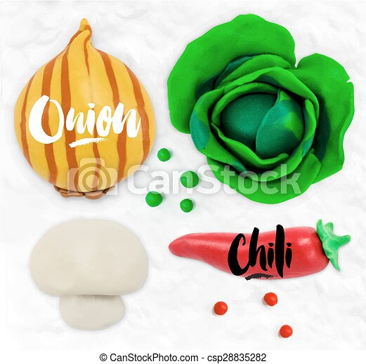 Plasticine vegetables onion - csp28835282