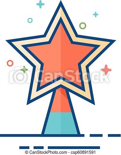 plat, étoile, couleur, arbre, -, noël, icône - csp60891591