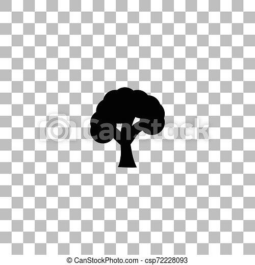 plat, arbre, icône - csp72228093