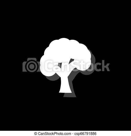 plat, arbre, icône - csp66791886