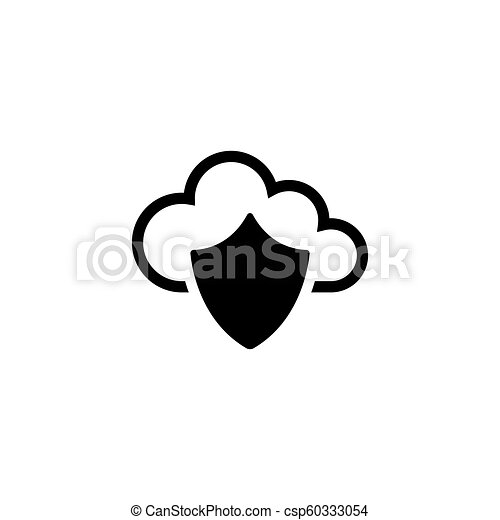 plat, bouclier, protection, vecteur, nuage, données, icône - csp60333054