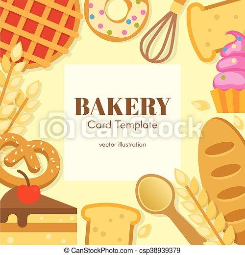 Carte Boulangerie.Plat Boulangerie Carte Gabarit Plat Centre Inscription Farine