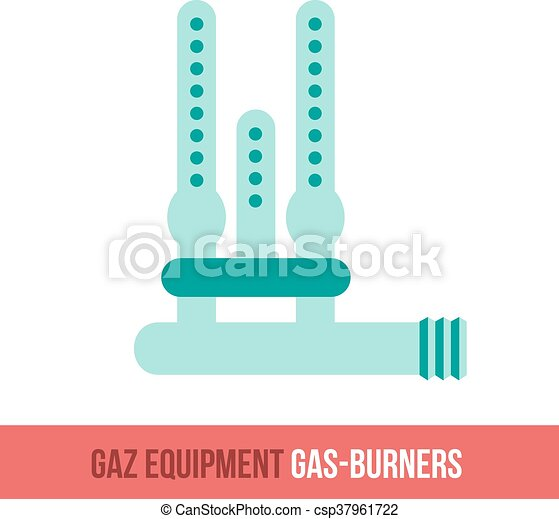 plat, branders, vector, gas, pictogram - csp37961722