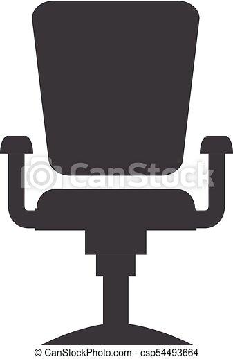 Plat Bureau Moderne Silhouette Conception Vector Chaise
