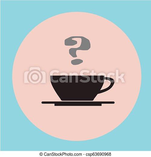 plat, café, noir, arrière-plan., tasse - csp63690968