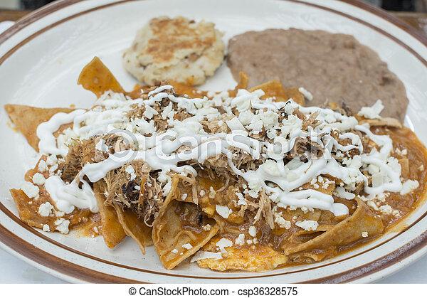 Célèbre Image de plat, chilaquiles, petit déjeuner, mexicain - chips, fait  JM25