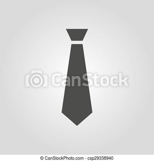 beau obtenir pas cher nouveaux styles plat, code, cravate, mode, symbole., cravate, icon., robe