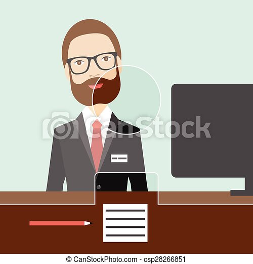 plat commis bank vector homme plat bureau commis clipart vectoriel rechercher. Black Bedroom Furniture Sets. Home Design Ideas