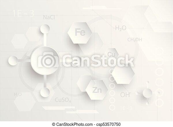 plat, concept, tonalité, résumé, gris, chimique, couper papier, fond, blanc, design. - csp53570750