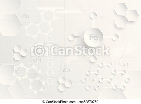 plat, concept, tonalité, résumé, gris, chimique, couper papier, fond, blanc, design. - csp53570759