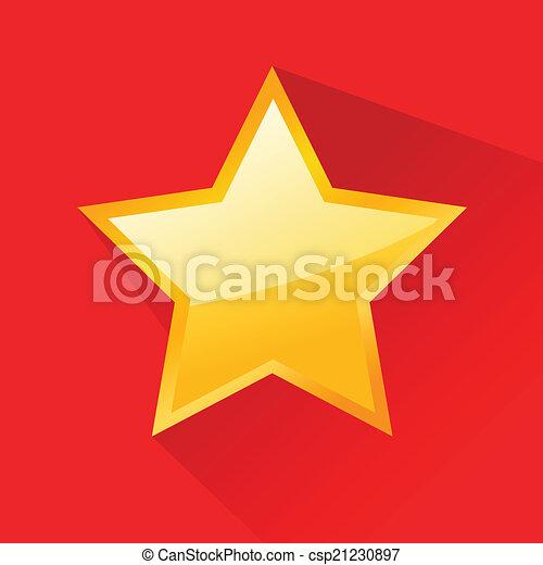plat, conception, étoile, brillant, or - csp21230897