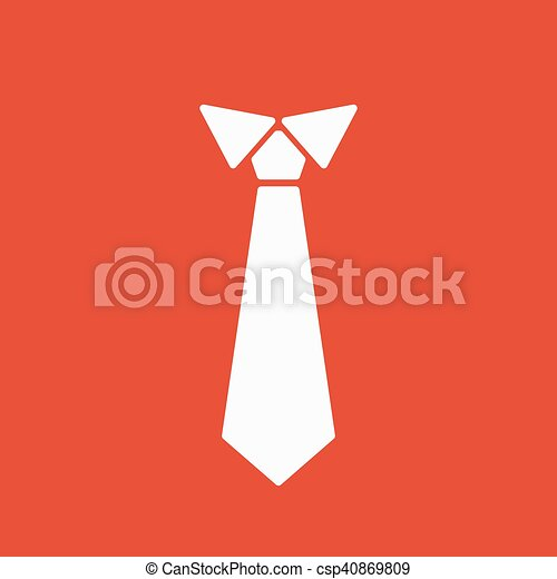 super mignon énorme inventaire Royaume-Uni plat, cravate, symbole., cravate, icon., neckcloth